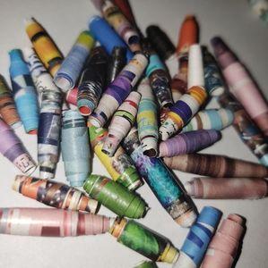 50 Handmade Paper Beads - Mixed